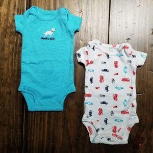 Carter's Preemie Onesies Mommy Firetruck Police